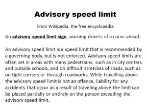 advisory speed limit picture 2